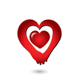 Love holding hands couple logo vector image