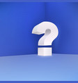 Question mark in the corner on a blue background vector image