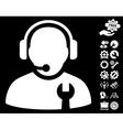 Service Operator Icon With Tools Bonus vector image