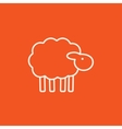 Sheep line icon vector image