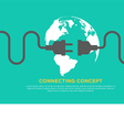 Connection concept flat design global connecting vector image