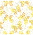 Seamless Pattern Outline Butterflies vector image vector image