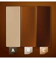 Three frames vector image vector image