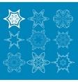 Blue Round Patterns vector image