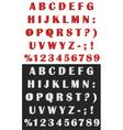volume alphabet and numbers vector image