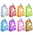 Juice bags in different colors vector image