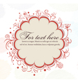 autumn frame with floral vector image