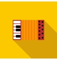 Accordion icon in flat style vector image