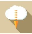 Cloud with arrow down icon flat style vector image