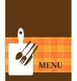 menu template with kitchen elements vector image