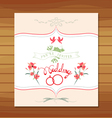 ornate frame wedding invitation floral retro vector image