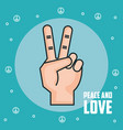 peace and love hand gesture symbol vector image