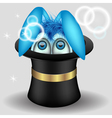 rabbit in magic hat vector image