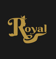 royal crown logo vector image