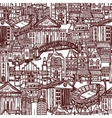 Sketch city seamless pattern vector image