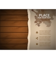Grunge paper with watercolor on wooden wall vector image