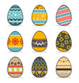 icon easter egg set vector image