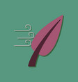 flat icon design collection leaf and wind in vector image vector image