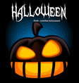 halloween banner template with spooky laugh vector image vector image