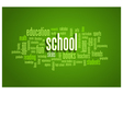 School Word Cloud Bubble Tag Tree on green vector image