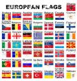 European flags grunge vector image