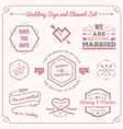 Wedding celebration badge and sign decoration vector image