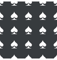 Straight black spades pattern vector image
