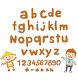 ABC for kids alphabet kids children fun vector image