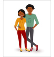 Happy african american couple flat vector image
