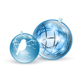 new year and christmas ball toys vector image vector image