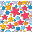 colorful decorative stars vector image vector image