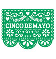 cinco de mayo papel picado design - mexican vector image
