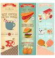 coffee fast food ice cream banners vector image