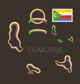 Colors of Comoros vector image