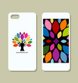 mobile phone cover design art tree vector image