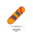 winter sport snowboard equipment vector image