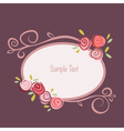 Rose round frame vector image vector image
