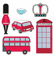 colorful set of london symbols vector image