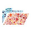 Social media folder composition vector image vector image