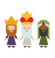 the three wisemen cartoon design vector image