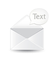 Envelope Text vector image vector image