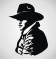 Cowboy Stencil vector image