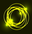 Yellow plasma circle effect background vector image vector image