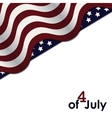 American Flag Independence Day vector image vector image
