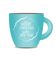 Abstract Beauty Christmas and New Year Cofee Cup vector image