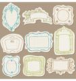 Set of Doodle Frames on torn paper vector image