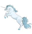 blue unicorn vector image