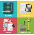 Construction process Infographic template vector image