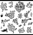 Decorative floral organic natural designs with flo vector image