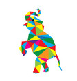 geometric elephant vector image
